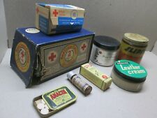 Vintage First Aid & Household Supplies, original packing, 7 items