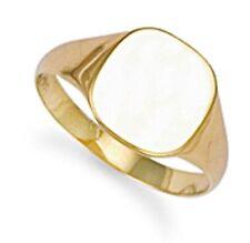Echter Ringe im Siegelring-Stil aus Gelbgold