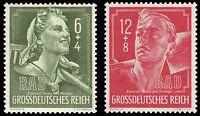EBS Germany 1944 Reich Labour Service - Reichsarbeitsdienst Michel 894-895 MNH**