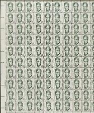 Pane of 100 USA Stamps 1861 American Deaf Educator Thomas H. Gallaudet BV $77.50