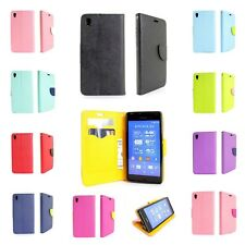 For Sony Xperia Z3V Compact Wallet Case Flip Pouch Credit Card Protective Cover
