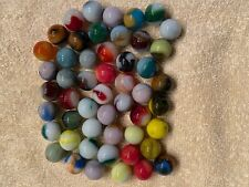 Lot of 50 Half Inch Vintage Opaque Agate Marbles