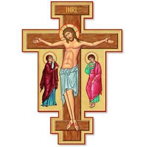 "Small 10"" Medieval Icon Crucifix"