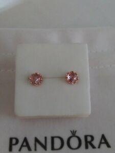 Authentic Pandora Rose pink Stud Earrings