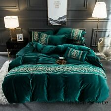 Luxury Velvet Flannel Fashion Classic Bedding set Warm Printing Duvet Cover Bed