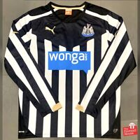 Authentic Puma Newcastle United 2014/15 L/S Home Jersey. Size M, Exc Cond.
