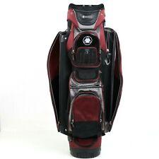 Datrek Cart Bag 14 Way Golf Club Bag Red Black w/Rain Cover