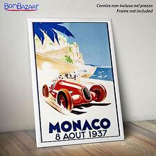 POSTER  MONACO 1937 - Vintage - città - su CARTA FOTOGRAFICA/TELA CANVAS