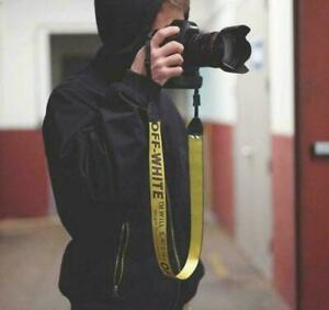 Yellow OFF-WHITE Camera Shoulder Strap Silky Camcorder Neck Lanyard for DSLR