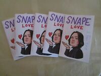 Limited Edition Collectible Harry Potter Fan Pop Art Artist Zine - Snape Love