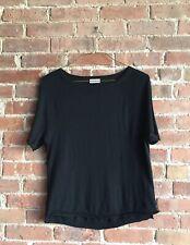 Dries Van Noten Women's Wool/Silk Sweater Tee. Sz Small Black Belgium