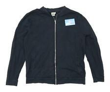 Asos Mens Size L Cotton Black Zip Tracksuit Top