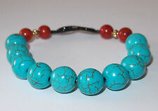 Blue and red Howlite stretch bracelet, Size 7, 24.6g.