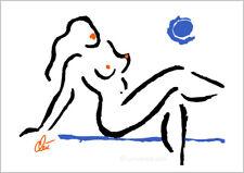 JACQUELINE DITT - Hot Girl Blue Moon A3 sign.ltd.Original Druck Grafik  Akt