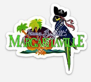 Jimmy Buffett Margaritaville Pirate Jolly Parrot Sticker Tumbler Car Decal