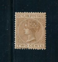 Ceylon - 1883 - 2¢ QV - Pale Brown - Wmkd Crown CA - SC 85 [SG 146] MINT B4