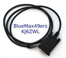 Serial Programming Cable for Kenwood Mobile radio with KPG-4 6-pin RJ-12 DB-9
