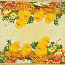 2 Serviettes en papier Poussin de Pâques Decoupage Paper Napkins Easter
