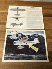 """LOCKHEED VEGA  AIRCRAFT picture print 8.5"""" X 11"""" Overall"""