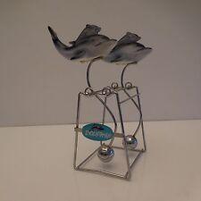 Mobile dauphins dolphins céramique faïence métal chromé art-déco