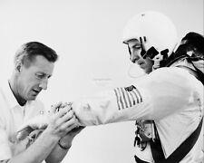 JIM LOVELL GEMINI 7 ASTRONAUT HAS SPACESUIT ADJUSTED - 8X10 NASA PHOTO (AA-488)