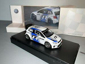 RALLY 1/43 SPARK VW  MOTORSPORT POLO R WRC TEST CAR 2013 OGIER LATVALA MIKKELSEN