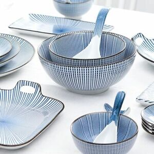 Blue Japanese Design Ceramic Tableware Series Set For Home Restaurant Accessory