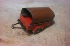 DINKY TOYS N° 25T - remorque rouge 2 roues, bâche brune (pas ATLAS )