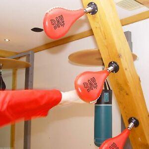 BAY® Boxsack Wand-Schlagpolster Pratze Boxbirne Speedball Wandfeder Wandmontage