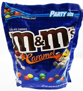 M&M's ~ Caramel ~ m and m ~ Candy ~ 34oz Party Size Bag
