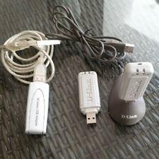 1 x NETGEAR Wireless USB Adapter WG111v3 Plus 2 x D-Link USB Adapters DWL-G122