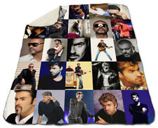 "George Michael Blanket Collage Winter 60"" x 80"" Fleece Warm Freedom"