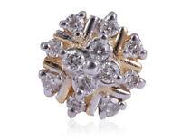 Pave 0,14 Cts Runde Brilliant Cut Natürliche Diamanten Nase Stud In 750 18K Gold