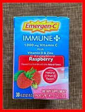Emergen-c Immune Plus System Support Drink 30 Pack RASPBERRY VITAMIN D C & ZINC