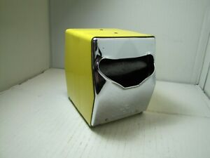 Vintage TIDYNAP 2 Sided Napkin Dispenser, Chrome And Yellow. USED
