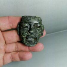 Pre-columbian Olmec stone pendant from Mexico. Ca. 400 bc.