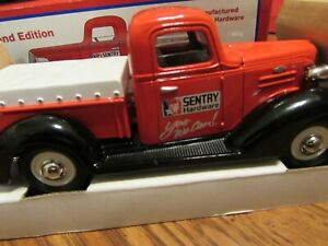 Spec Cast Sentry Hardware 1937 Chevy Pickup with Tonneau Cover Coin Bank NIB