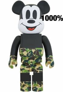 BE@RBRICK 1000% BAPE MICKEY MOUSE GREEN Ver. Rare Medicom Bearbrick MEDICOM Toy
