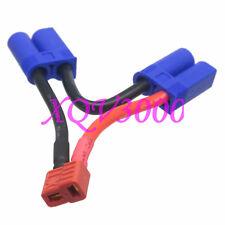Esc Xt Anti-Slip T-Plug Female to Dual Ec5 Male Series lipo battery 12Awg 5Cm