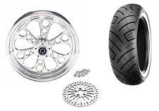 Polished Kool Kat 18 x 5.5 Rear Wheel Rim Tire Package Harley Custom Chopper WWW