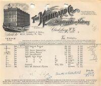 CLARKSBURG WV~THE KOBLEGARD COMPANY-DRY GOODS~1928 BILLHEAD