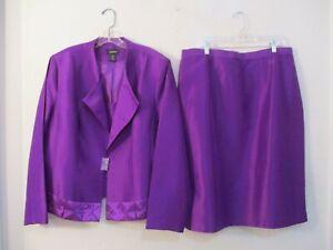 Ashro lined purple skirt suit size 20W