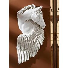 Ancient Greek Mythology Wings of Fury Pegasus Steed Horse Resin Wall Sculpture