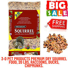 3-D Pet Products Premium Dry Squirrel Food 20 lbs, Added Vitamins And Minerals