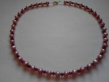 Handmade ~ Necklace ~ Freshwater Pearls and Swarvoski Crystals ~ Pink