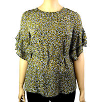 PLUS SIZE FLORAL BELL SLEEVE BLOUSE TOP Sizes 18-26