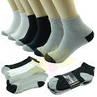 1 Dozen Ankle/Quarter Low Cut Men Crew Sport Socks Cotton Size 9-13 Two Tone