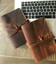Handmade Leather Journal Refillable Notebook Diary Travel Notepad