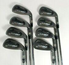 PureGolf Black TICN Oversize 8-Club Golf Iron Set 3-PW Steel Stiff Flex Right RH