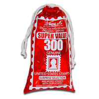 US Surprise Stamp Bag - Authentic 300 Stamps - Great For Education & Collectors
